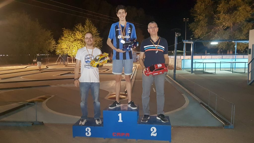 Podium categoria 2WD del rally rc capa 2018